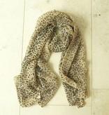 Leopard sjaal glitter