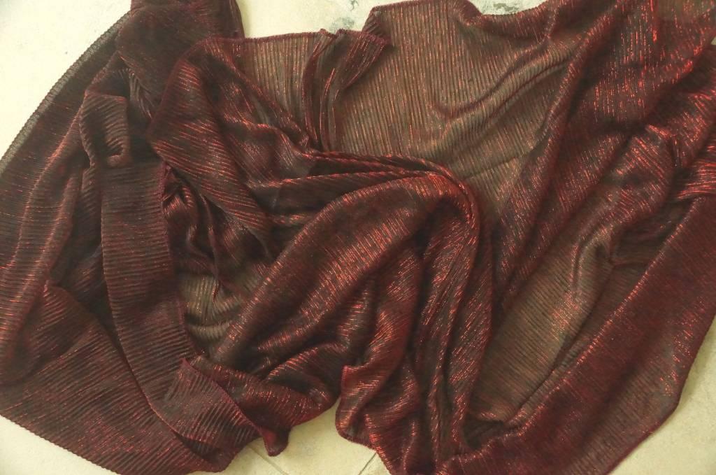 Rode sjaal glitter