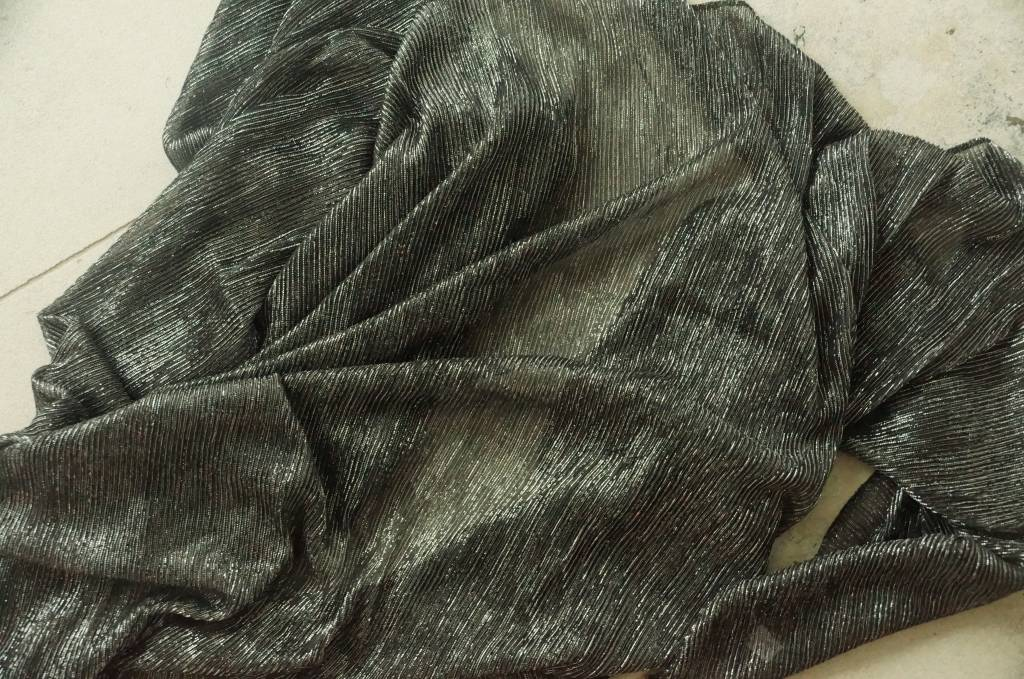 Zwarte sjaal glitter
