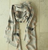 Grijze sjaal glitter