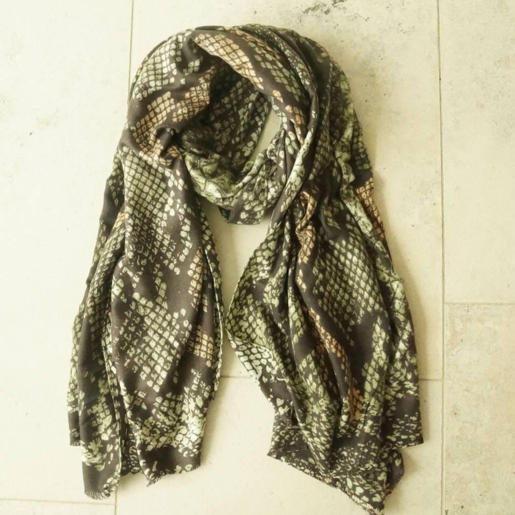 Groene sjaal snake