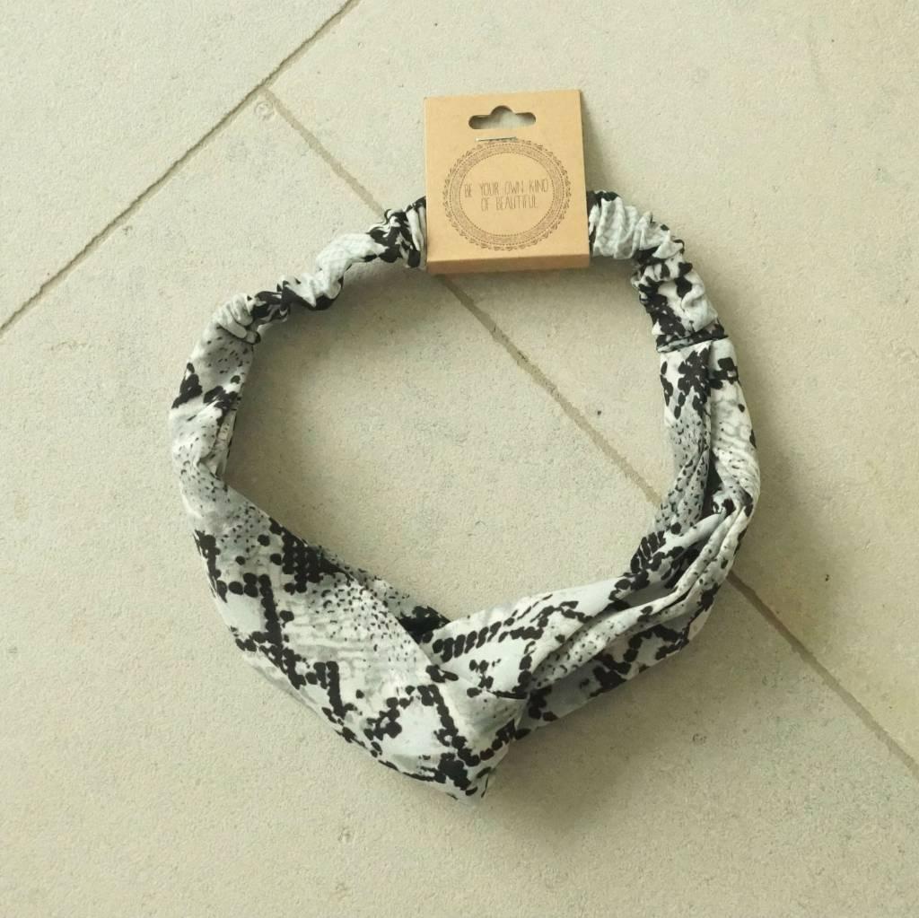 Haarband grijs snake