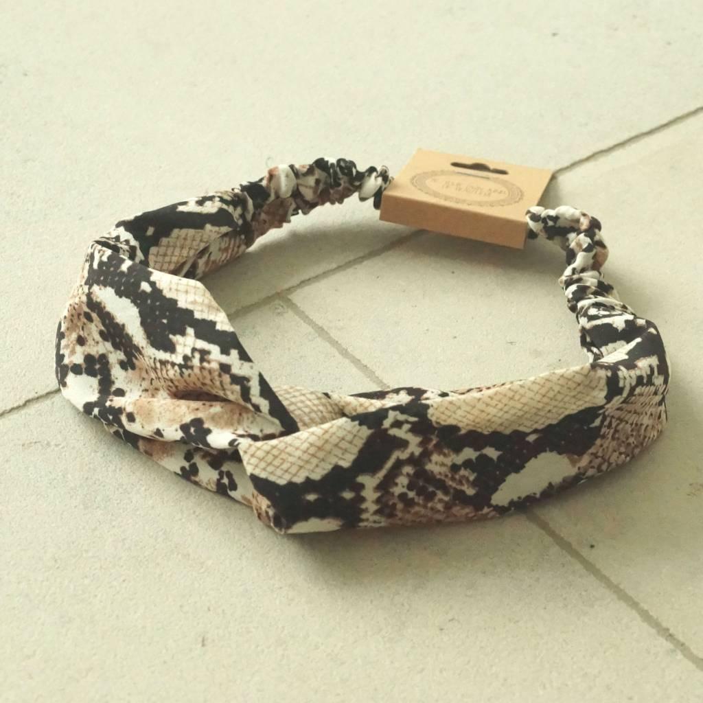 Haarband bruin snake