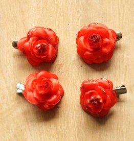 Kleine rode bloemetjes (4 st)