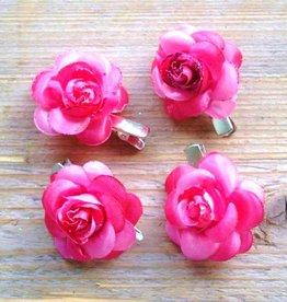 Kleine rose bloemetjes (4 stuks)