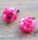 Kleine rose bloemetjes (2 stuks)