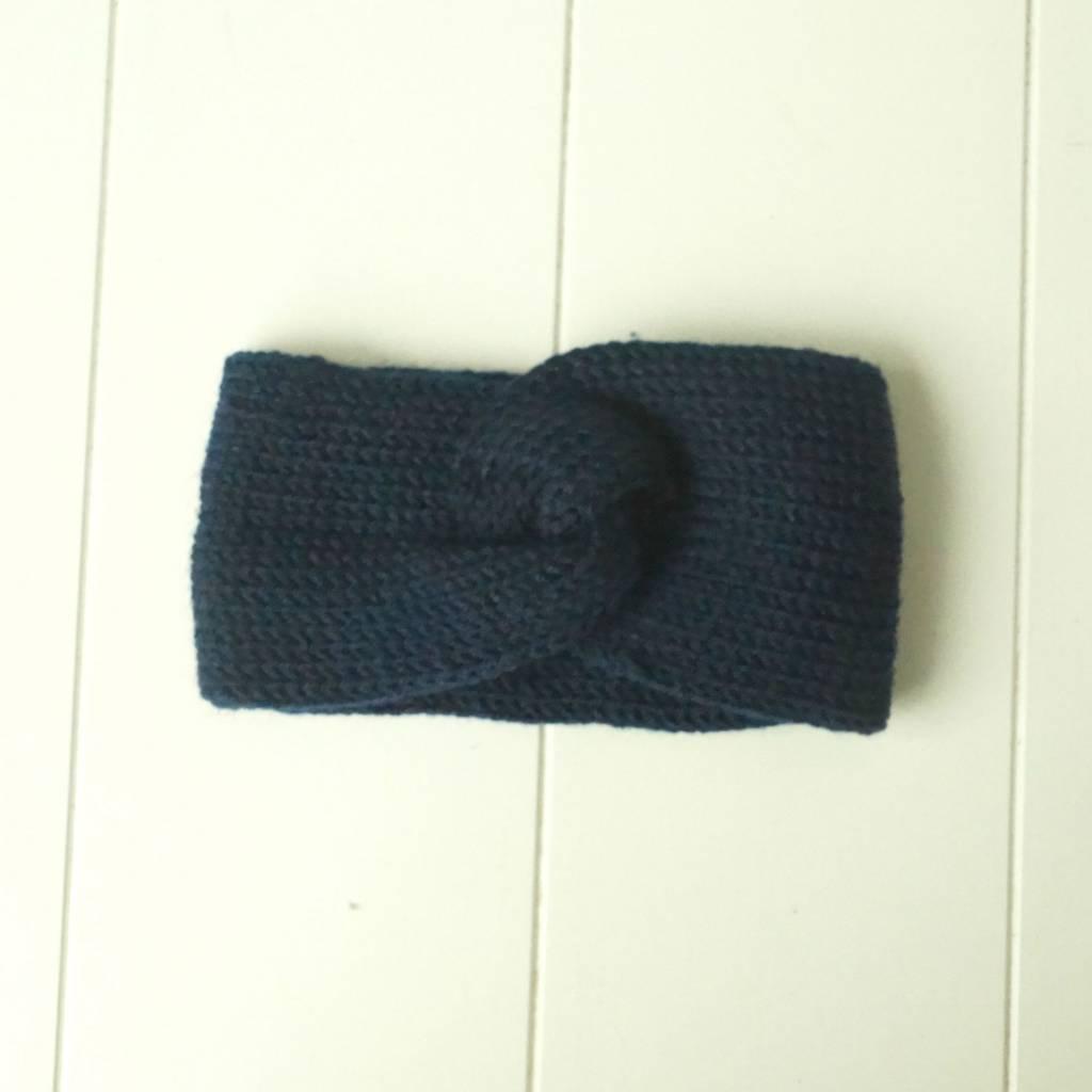 Donkerblauwe hoofdband