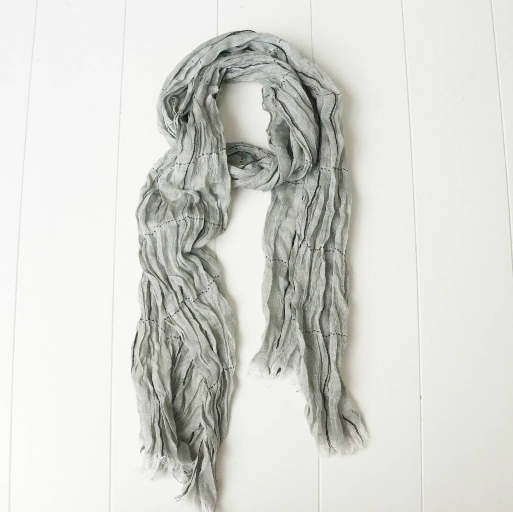 Herensjaal grijs