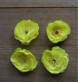 Gele bloemetjes (4 stuks)