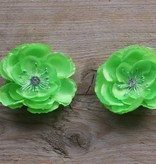 Fel groene bloemetjes (2 stuks)