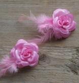 Rose bloemklemmetjes (2)
