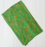 Groene sjaal met kettingprint