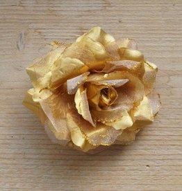 Goudkleurige bloemcorsage