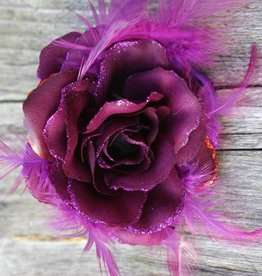 Donker paarse corsage / elastiek