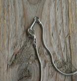 Zilverkleurige ketting met ankers