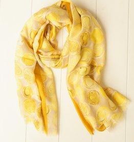 Sjaal met gele balletjes