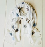 Sjaal met blauwe ballen