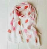 Sjaal met roze ballen