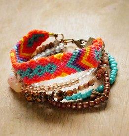 Gekleurde Ibiza armband