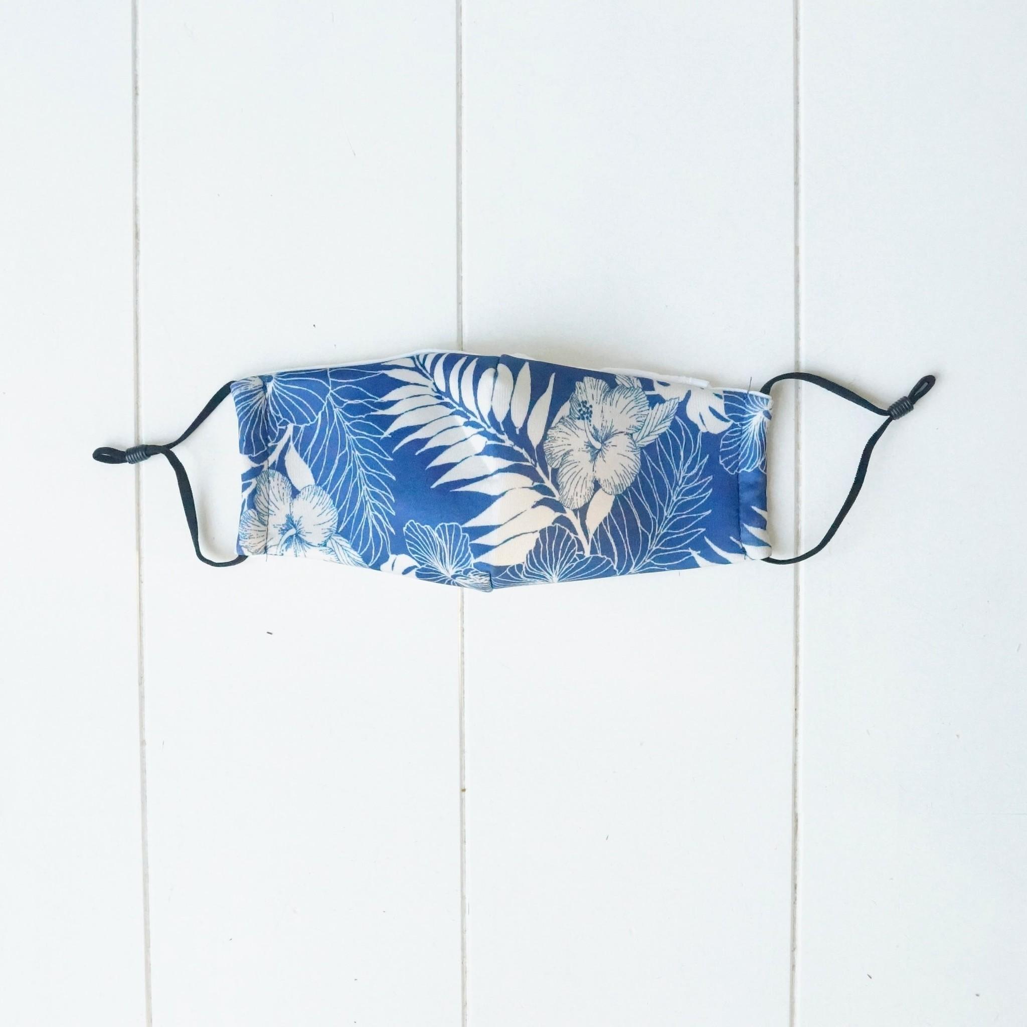 Blauw mondkapje met bohemian print