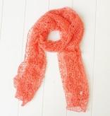 Koraalkleurige sjaal