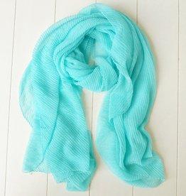 Aquablauwe sjaal
