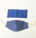 Mondkapjes blauw en stip