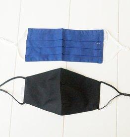 Mondkapjes blauw en zwart