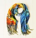 Sjaal Van Goghprint