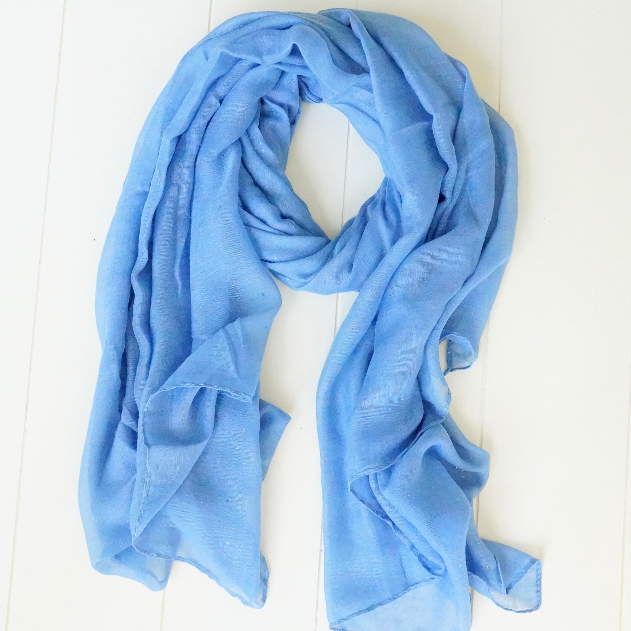 Klassiek blauwe sjaal