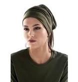 Taupekleurige brede haarband (multifunctioneel)