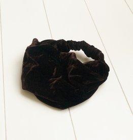 Haarband bruin fluweel