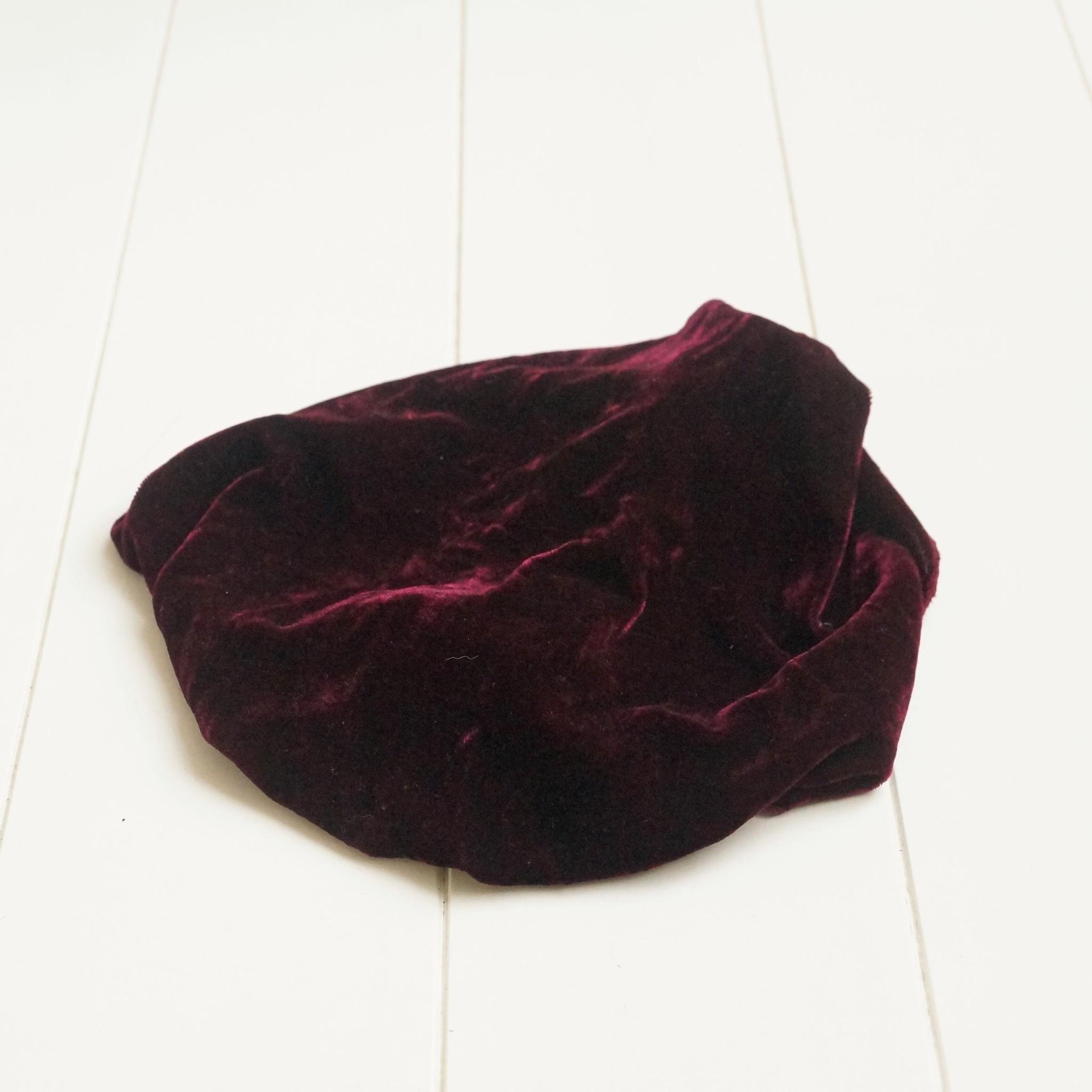 Haarband donker rood fluweel