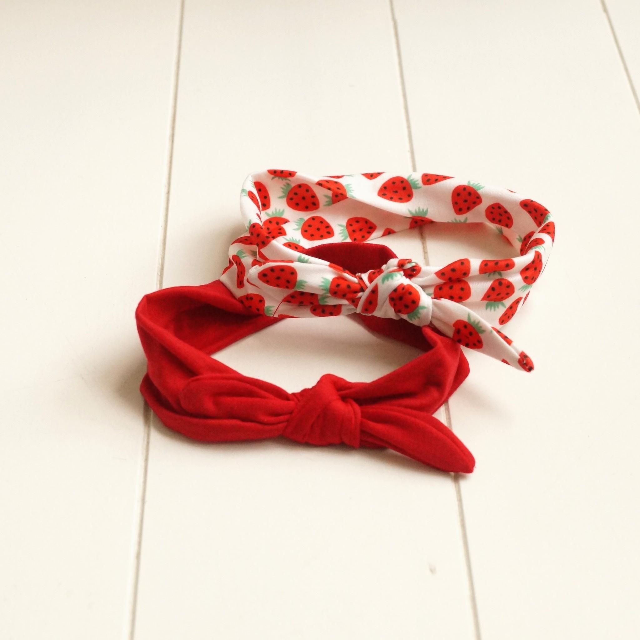 Kinderhaarbandjes rood en wit (2)