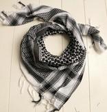 Vierkante sjaal zwart / wit