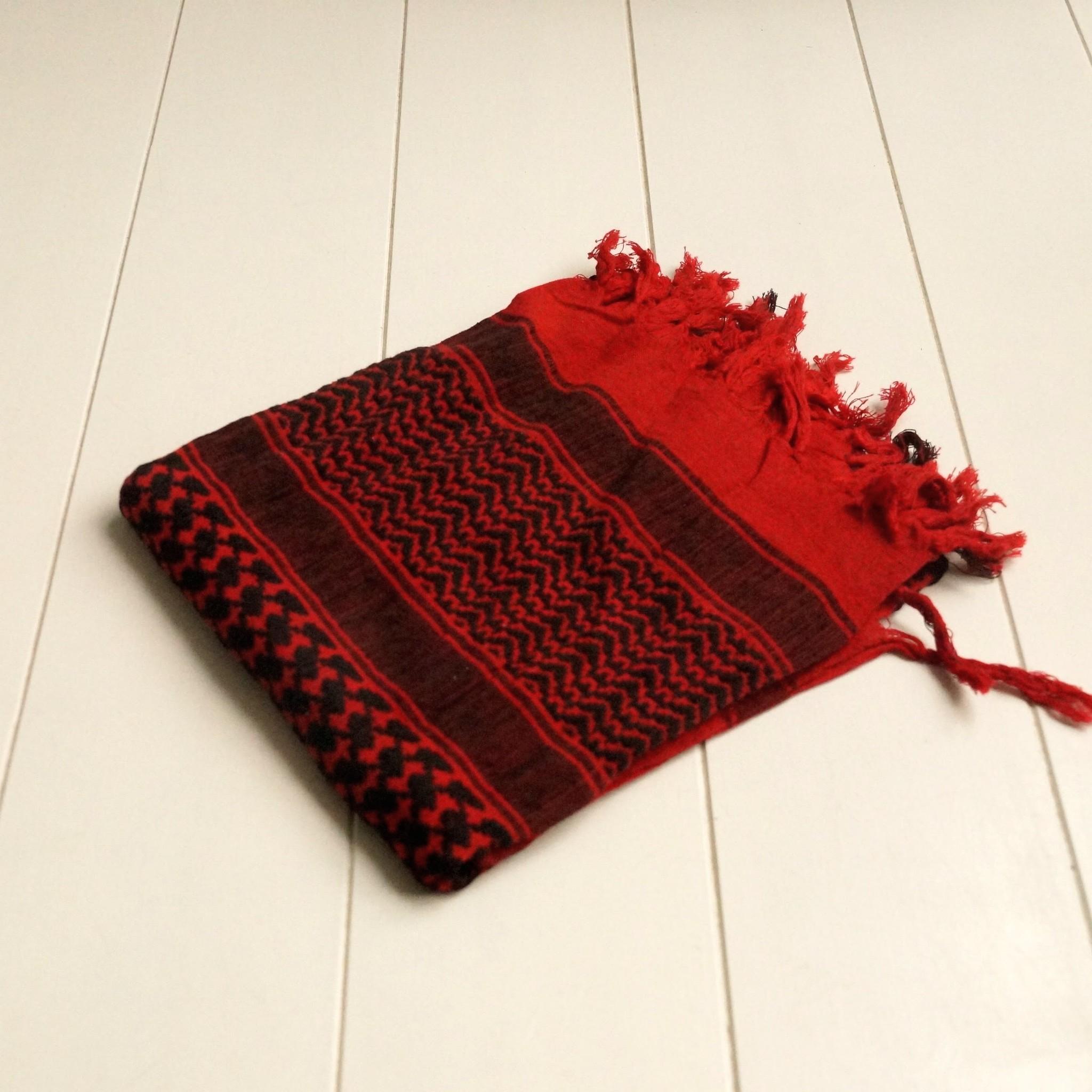Vierkante sjaal rood