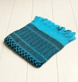 Vierkante sjaal turquoise