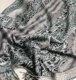 Licht grijze sjaal met print