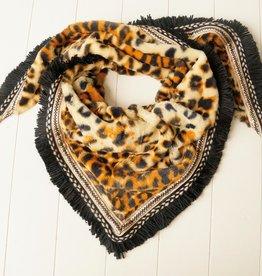 Driehoeksjaal leopard bruin