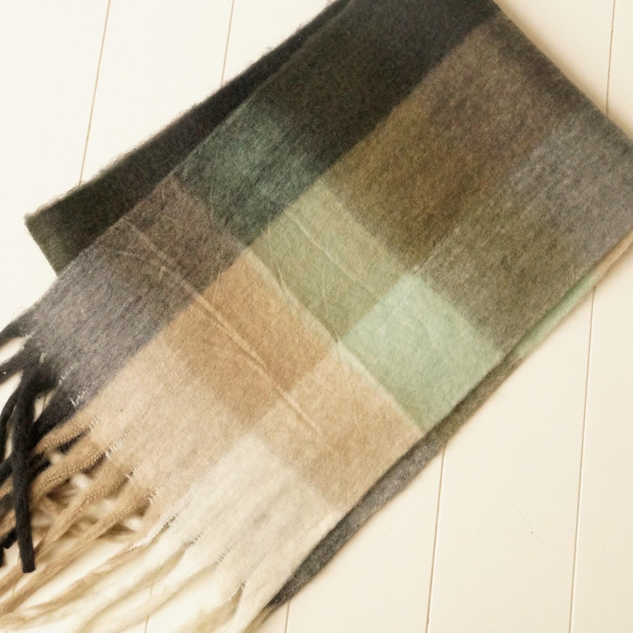 Geblokte sjaal zwart, grijs