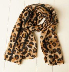 Leopard sjaal met streep