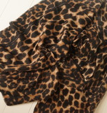 Donkere leopard sjaal met streep