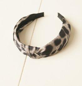 Diadeem grijs leopard