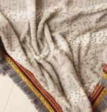 Driehoeksjaal leopard grijs
