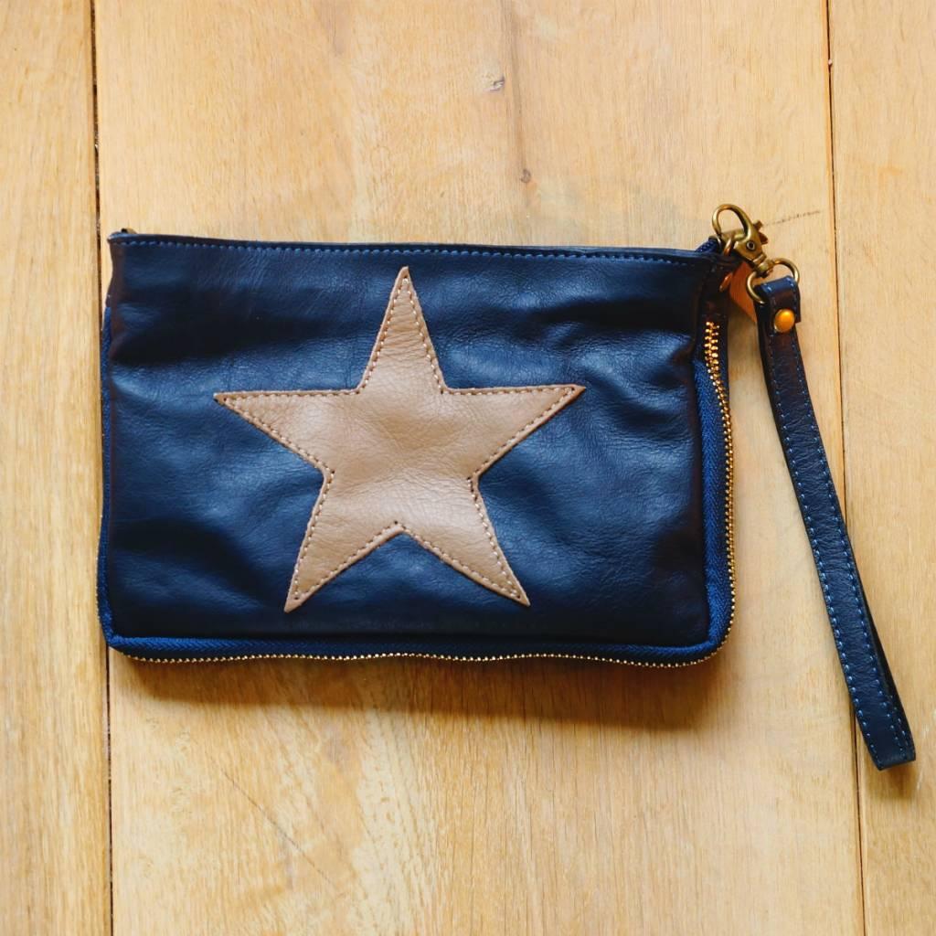 Donkerblauw tasje met ster