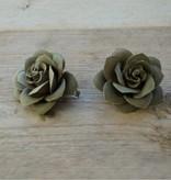 Grijze bloemetjes (2 stuks)
