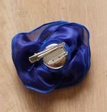 Kobaltblauwe corsage