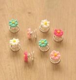 Haarspiraal met bloemetjes (8)