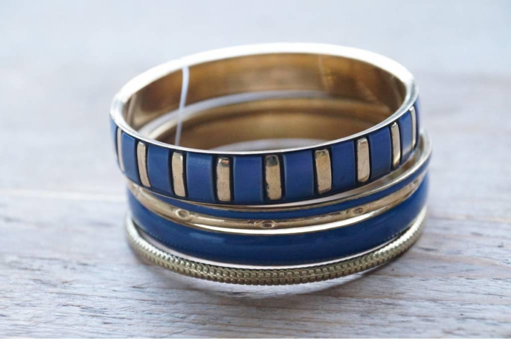 Blauwe armbanden (5 st)