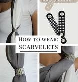 Bruine scarvelets print (2 st)
